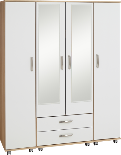 Regal 4 Door 2 Drawer 2 Mirror Large