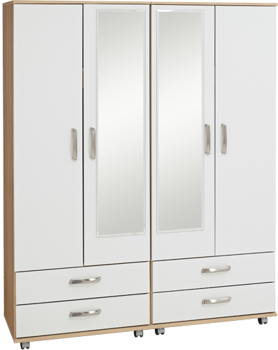 Regal 4 Door 4 Drawer 2 Mirror Large