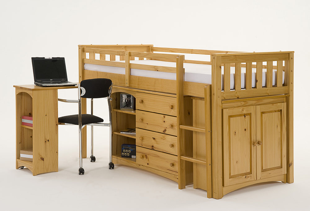 Mid Sleeper With Futon Home Decor